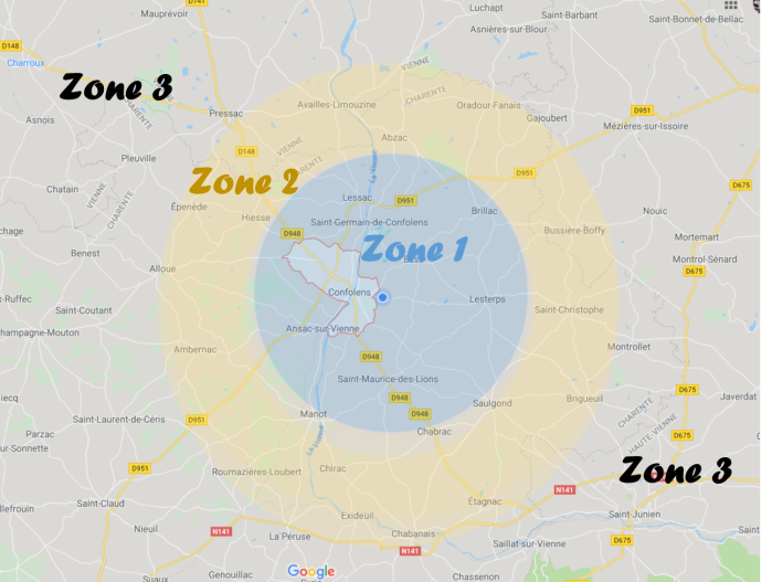 Carte 3 zones
